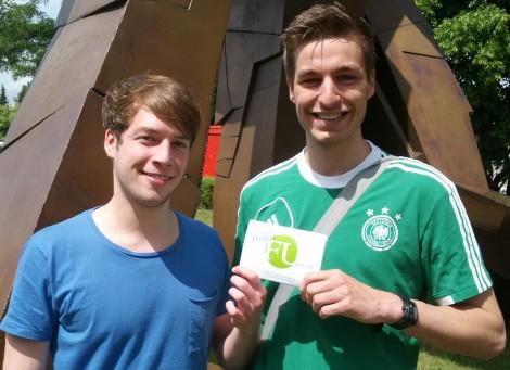 Die FUpon-Gründer Tim Hagenhoff und Oskar Bunzel-Lingens. Foto: Florian Schmidt