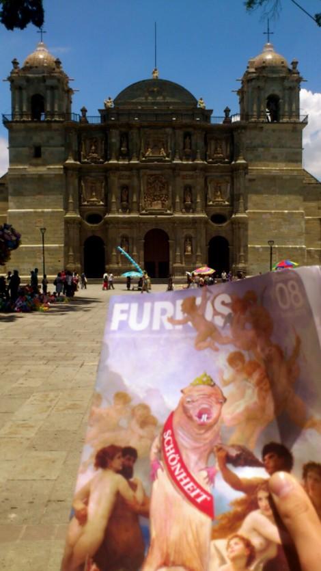 Vor der pompösen Kathedrale in Oxaca genießt der Nacktmull die mexikanische Sonne. Foto: Lev Gordon