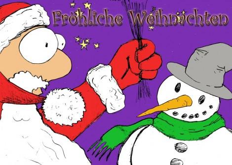 FURIOS wünscht allen Lesern fröhliche Weihnachten! Illustration: Cora-Mae Gregorschewski