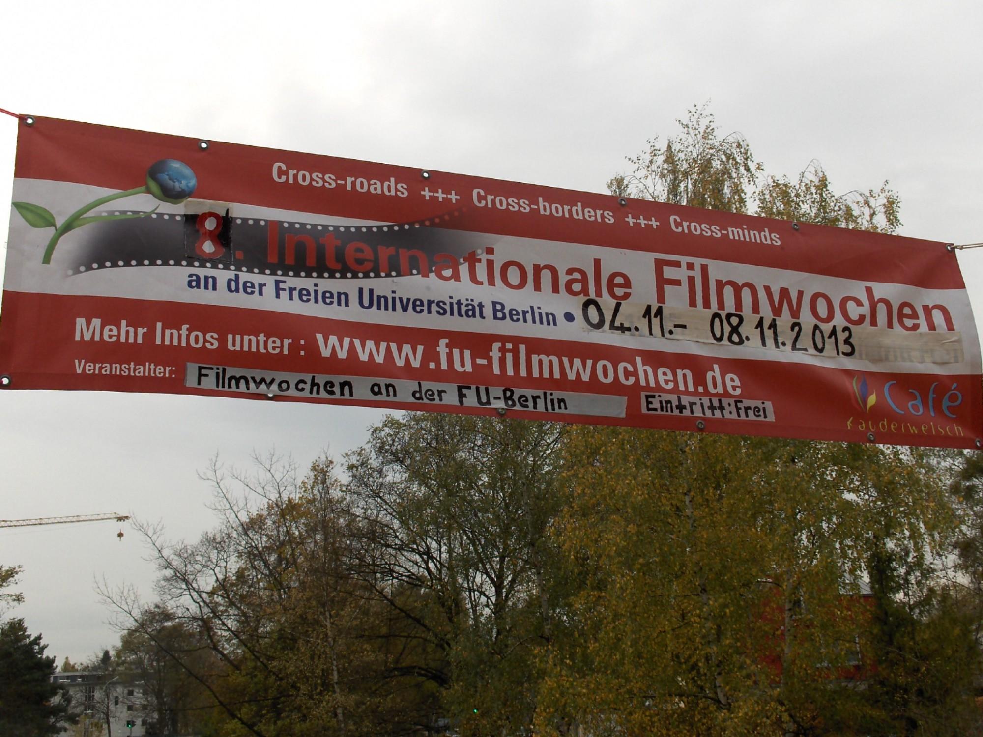 Nicht zu übersehen: Die Filmwoche an der FU. Foto: Silvana Briebsch