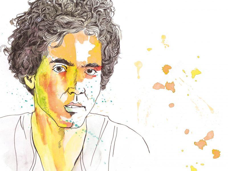 Die Literaturwissenschaft bietet ihm wenig Inspiration: Poetry-Slammer Julian Heun. Illustration: Luise Schricker