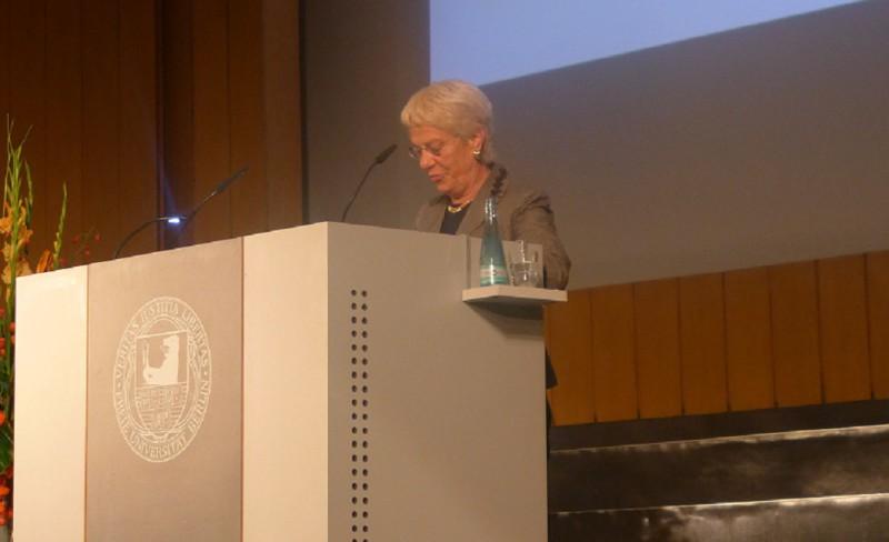 Carla Del Ponte bei der Preisverleihung an der FU. Foto: Celine Zeck