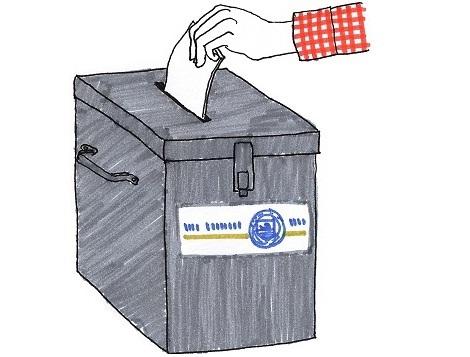 Auf zu den Urnen! An der FU werden die akademischen Gremien gewählt. Illustration: Luise Schricker