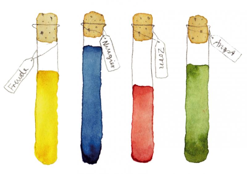 Freude, Neugier, Zorn oder gar Angst? Viele Wissenschaftler blenden ihre eigenen Emotionen beim Forschungsprozess aus. Illustration: Faustina Kork