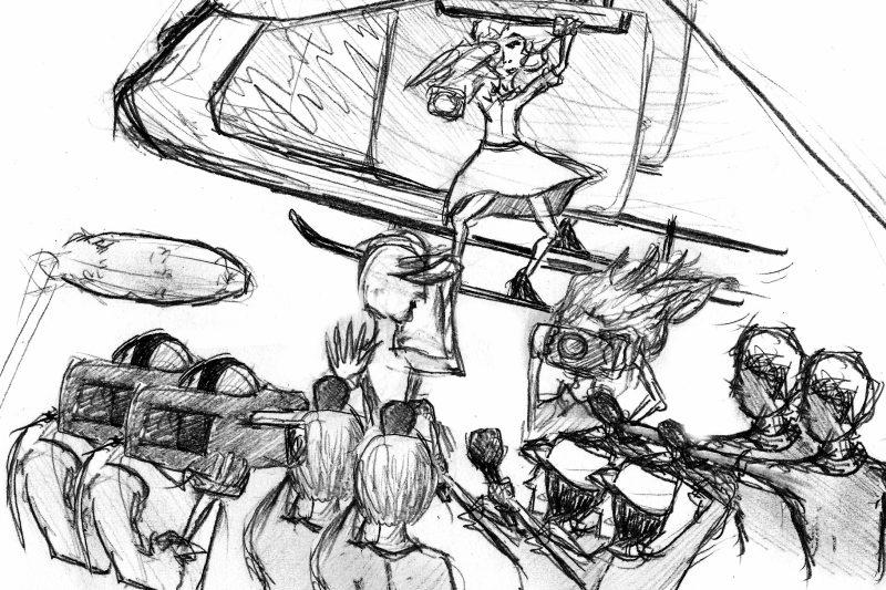 Wenn Journalisten Amok laufen. Illustration: Zoe Schütte