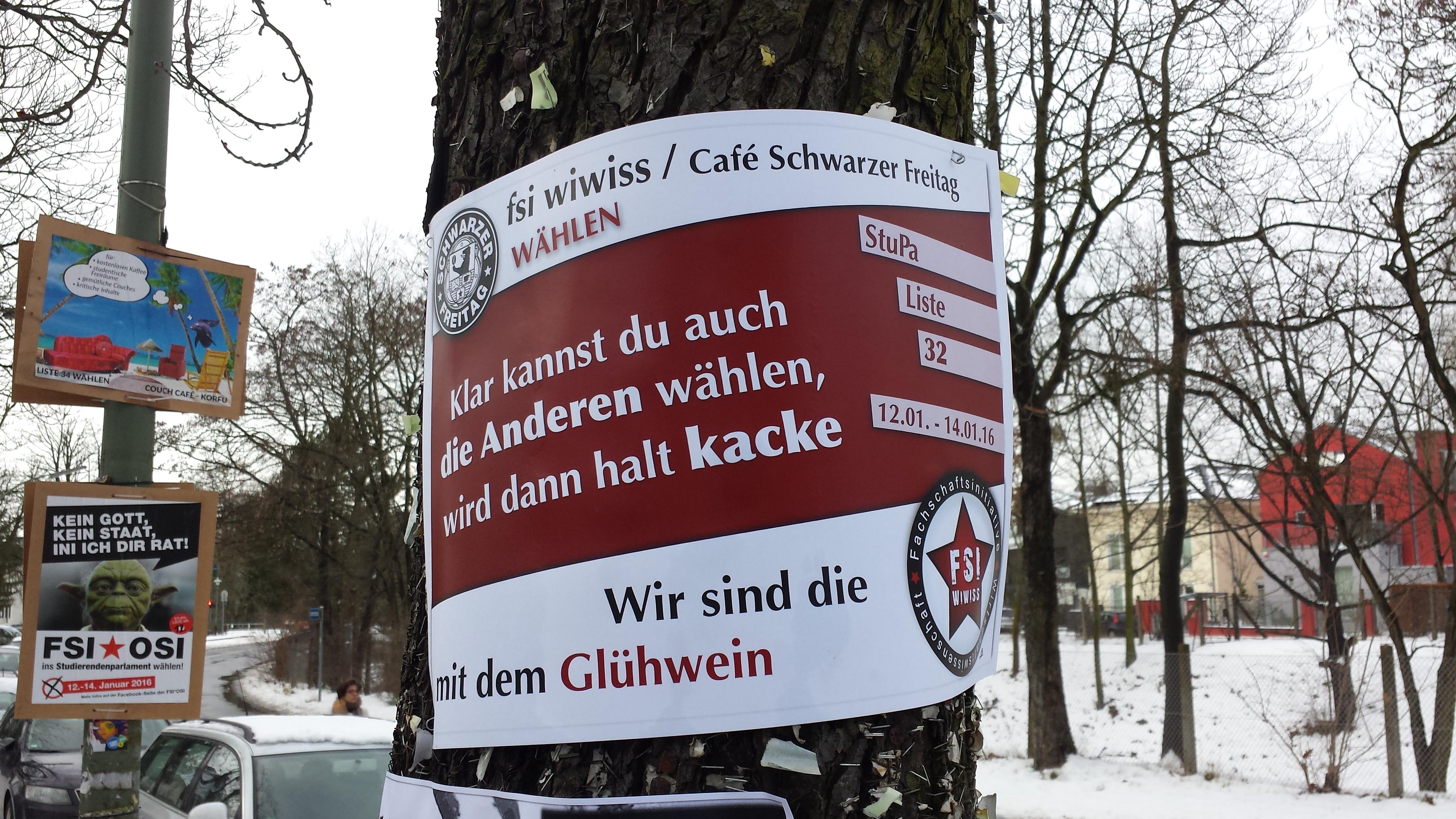 Liste 32 - fsi wiwiss/ Café Schwarzer Freitag