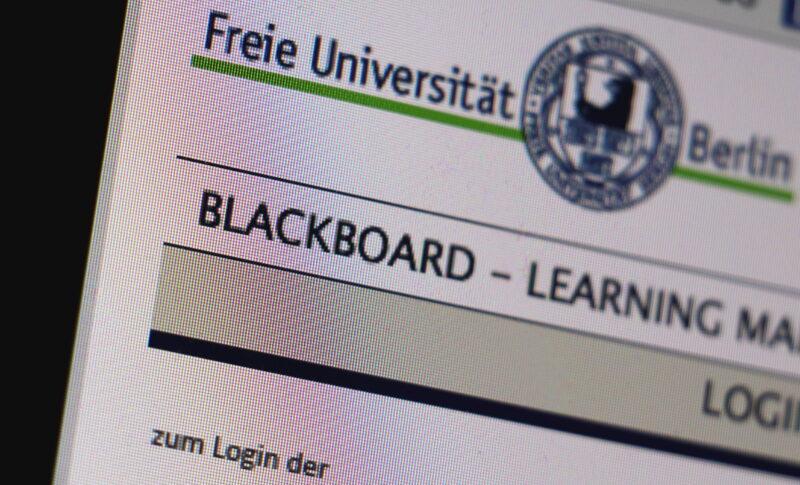 Das Blackboard bleibt erst mal zentraler Bestandteil des Studiums an der FU / Foto: Marius Mestermann