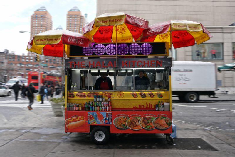 Hanis Truck am Broadway vor dem Union Square, Midtown in Manhattan